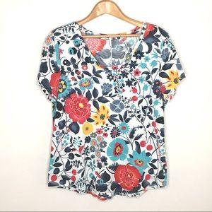 LOFT vintage soft tee shirt short sleeve floral L